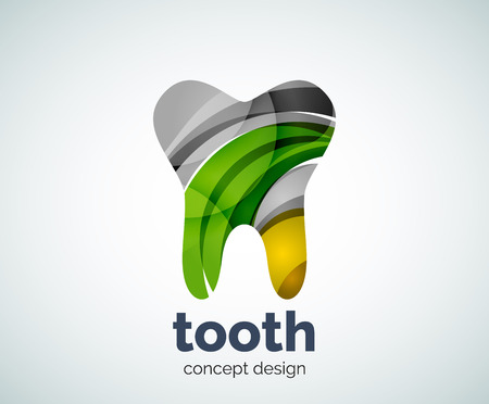 Vector tooth   template, abstract business icon Illustration
