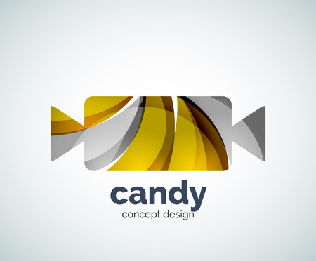 chew: Vector candy template, abstract business icon