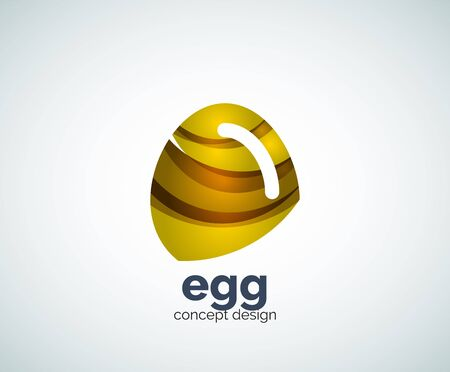 Vector egg template, abstract business icon