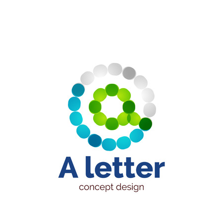 minimalistic: Vector modern minimalistic dotted letter concept