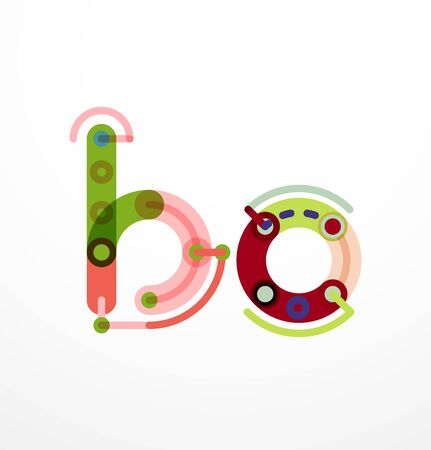 Vector letter - technology minimal design