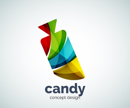 Vector candy template, abstract business icon