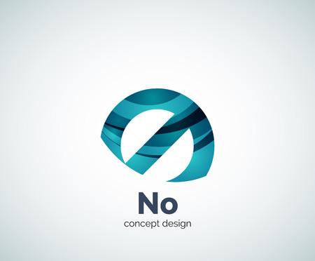 prohibition: Vector aucun concept, modèle d'interdiction, icône abstrait affaires Illustration
