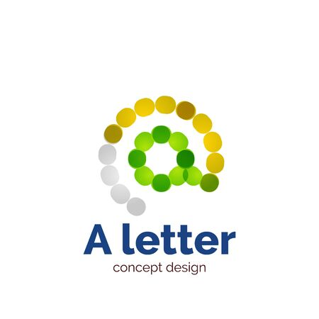 minimalistic: Vector modern minimalistic dotted letter concept   template, abstract business icon