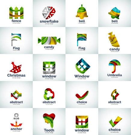 Vector abstract business collection, universal web icons