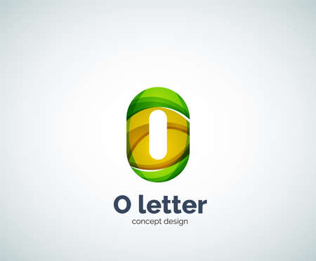 created: Vector letter O business  modern abstract geometric elegant design. Created with waves