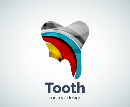 Vector tooth template, abstract business icon