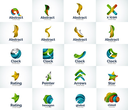 x rated: Vector abstract business  collection, universal web icons