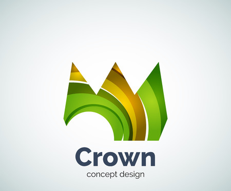 Crown  template, abstract business icon