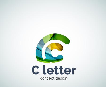 letter c: Vector C letter concept