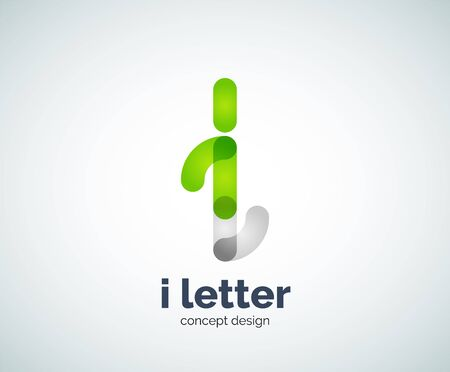 overlapping: Vector i letter  created with overlapping elements