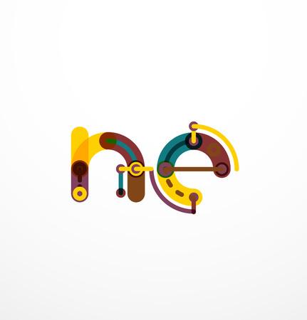 Line letter design. Stock Vector - 62208886
