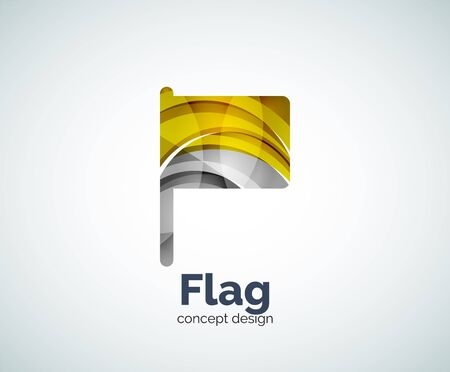 flag template: Vector flag template, abstract business icon Illustration