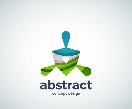 abstruse: Vector abstruse shape logo template, abstract business icon