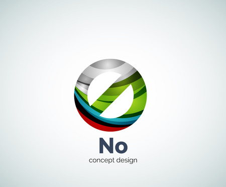 prohibition: Vector no concept, prohibition   template, abstract business icon