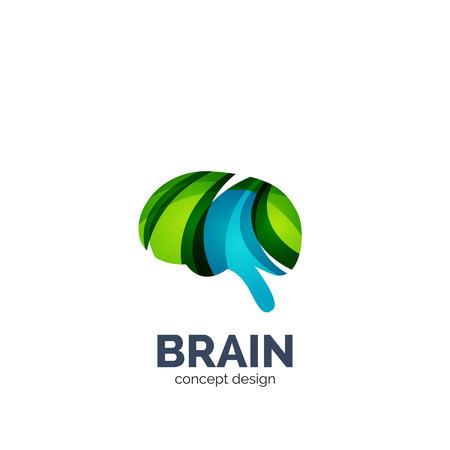 plantilla cerebro vector, diseño geométrico elegante