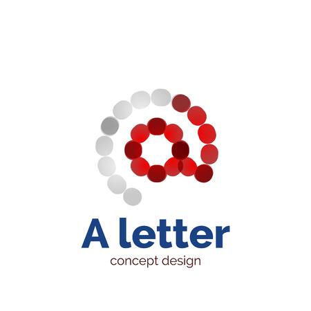 Vector modern minimalistic dotted letter concept  template, abstract business icon
