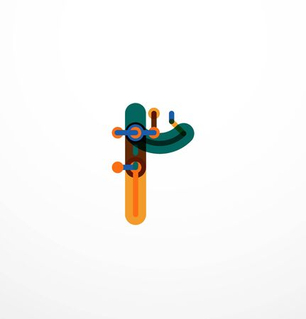 water s: Geometric design letters. Minimal icon Illustration