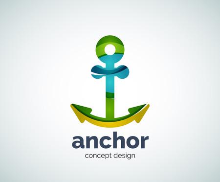 ship anchor: Vector ship anchor  template, abstract business icon Illustration