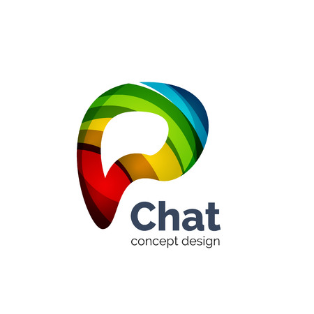 unusual: Unusual abstract business vector template - chat cloud