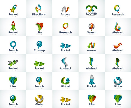 Vector abstract business  collection. Universal internet concepts