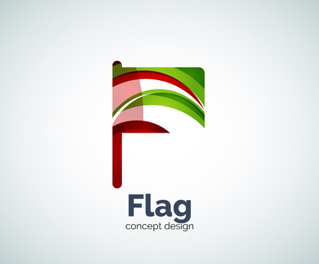 flag template: Vector flag   template, abstract business icon