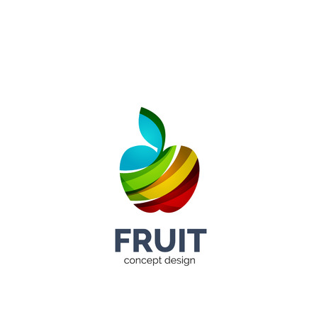 Vector apple fruit business icon design Illustration