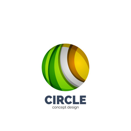 Vector abstract circle  business icon