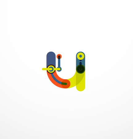 Vector letter. Abstract geometric colorful design Illustration