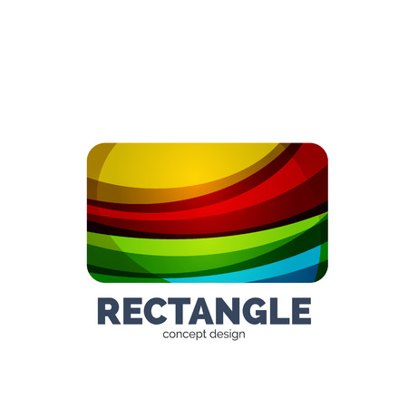 Vector rectangle, abstract template