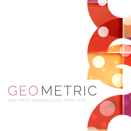 Geometrical minimal abstract background with light effects. Vector