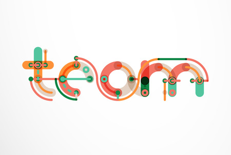 solid: Abstract line design letter  created with colorful line segments