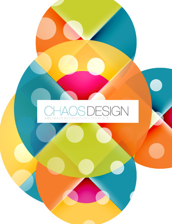 sample: Round shapes, vector circle banner with sample text