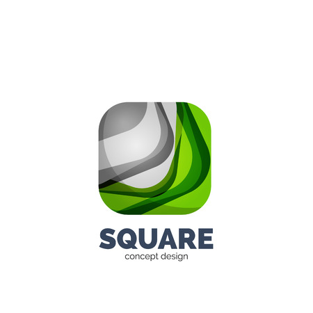 profesional: Vector abstract square   business icon