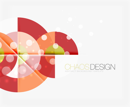 Abstract background with round color shapes and light effects. Vector illustration