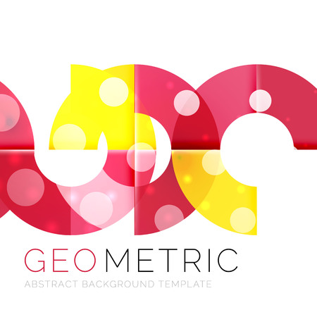 Vector abstract background with light effects