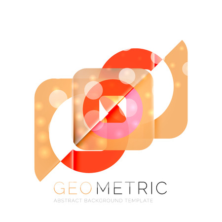 Modern abstract round shapes repititon vector background Illustration