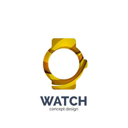 Vector watch template, elegant geometric design