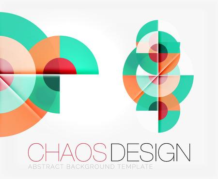 Resumen de fondo con formas redondas de color y efectos de luz. ilustración vectorial