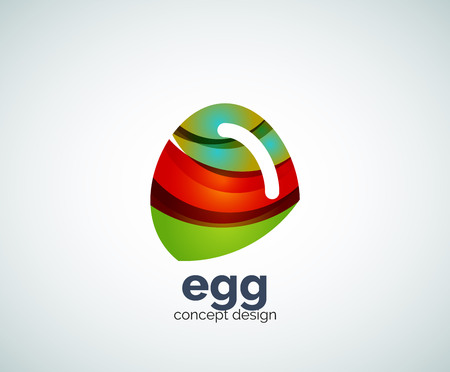 raw chicken: Vector egg   template, abstract business icon Illustration