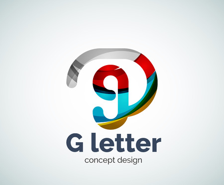 G letter  icon. Business geometric abstract element