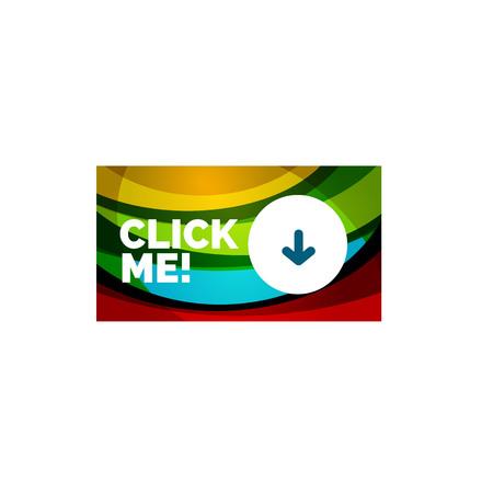 rectangle button: Vector abstract rectangle button template Illustration