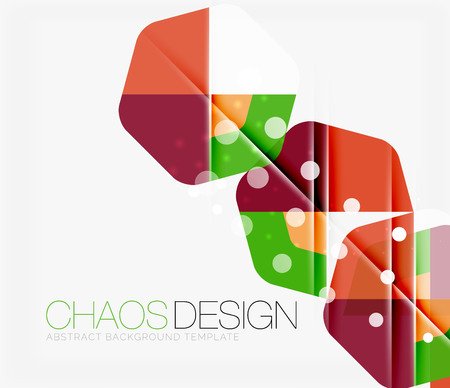 Abstract background with round color shapes and light effects. Vector illustration Illustration