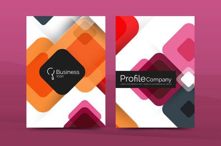 fond abstrait géométrique, société d'affaires annuel modèle de rapport. brochure Flyer Vecteurs