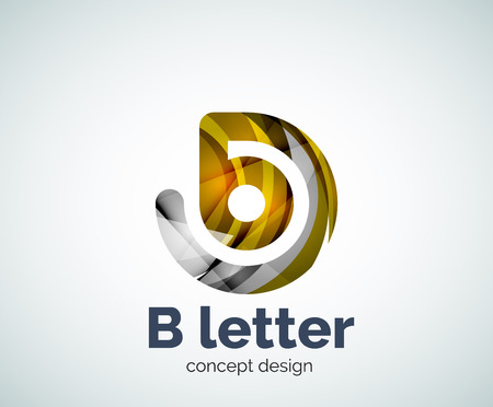 Vector B letter concept template, abstract business icon Illustration