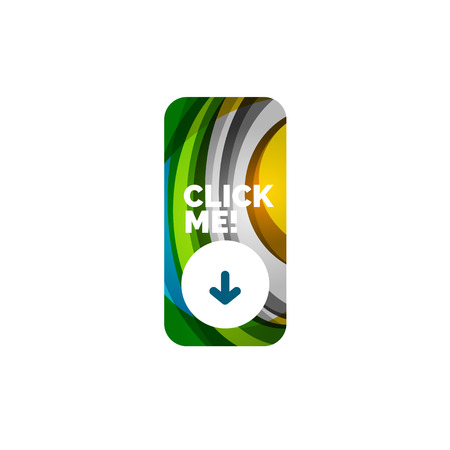 rectangle: Vector abstract rectangle button template Illustration