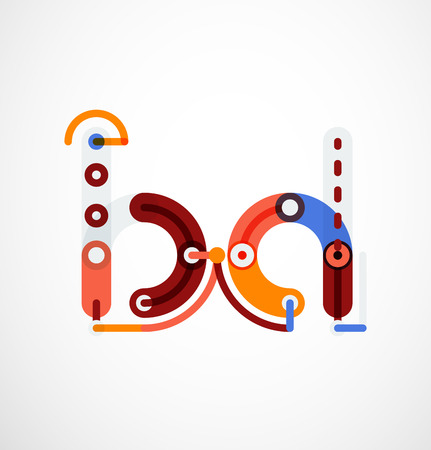 Colorful funny cartoon letter icon.