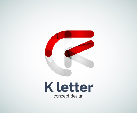 overlapping: Vector k letter   created with overlapping elements