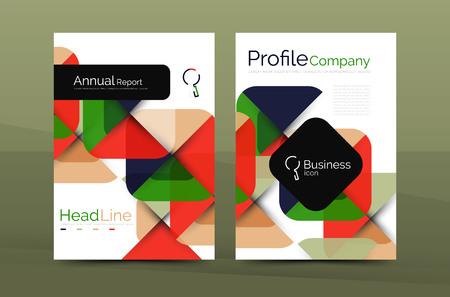 periodical: Geometric design, business annual report a4 brochure template
