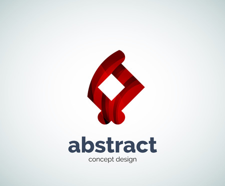 abstruse: Vector abstruse shape template, abstract business icon